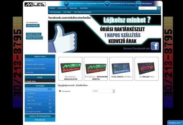 Mled webáruház